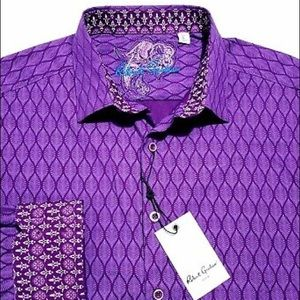 Robert Graham Purple Shirt Small NWT $198